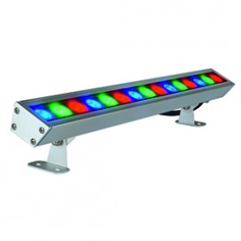 SLV 229463 Galen RGB LED Profile 15W Silver Grey Outdoor Ceiling, Wall & Ground Floodlight