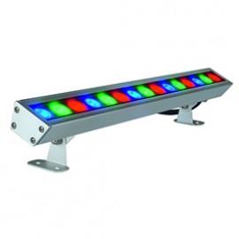SLV 229463 Galen RGB LED Profile 15W Silver Grey Outdoor Ceiling, Wall & Ground Floodlight
