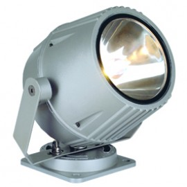 SLV 230054 Flacbeam HQI 70W Silver Grey Outdoor Ceiling, Wall & Floor Floodlight