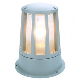 SLV 230434 Cone 100W Silver Grey Outdoor Bollard Light