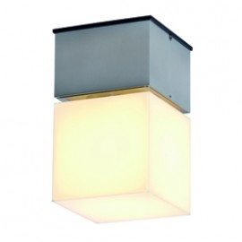SLV 230716 Square C 20W Brushed Aluminium Outdoor Ceiling & Wall Light