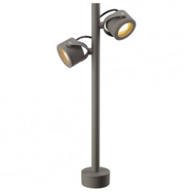 SLV 231504 Sitra 360 SL 2x9W Stone Grey Outdoor Bollard Light