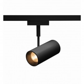 SLV REVILO, spot for SLV D-TRACK 2-phase high-voltage track, LED, 3000K, black, 15, incl. 2-phase adapter