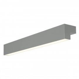 SLV L-LINE 60 LED, wall and ceiling light, IP44, 3000K, 700lm, mouse grey