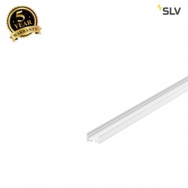 SLV 1000500 GRAZIA 20 LED Surface profile, flat, grooved, 1m, white