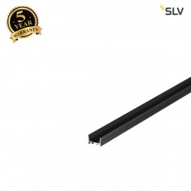 SLV 1000501 GRAZIA 20 LED Surface profile, flat, grooved, 1m, black