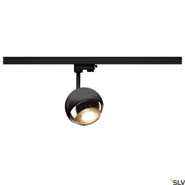 SLV LIGHT EYE 150 QPAR111 spot for 3-circuit 240V track, black/chrome, max. 75W, incl. 3-circuit adapter 1000707