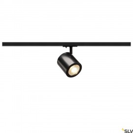 SLV ENOLA_C LED Spot for 1 circuit High-voltage Track System, 3000K, black, 35°, incl. 1 circuit adapter 1000711