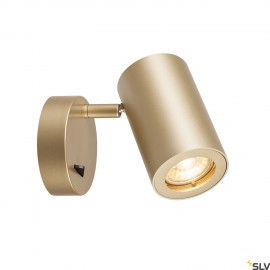 SLV 1000731 ENOLA_B Wall luminaire, QPAR51, with switch, brass, max. 50W