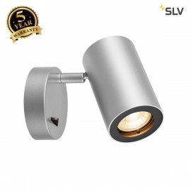 SLV 1000732 ENOLA_B Wall luminaire, QPAR51, with switch, silvergrey/black, max. 50W