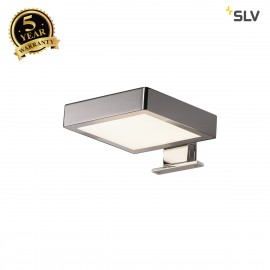 SLV 1000816 DORISA LED Mirror light, square chrome, 4000K, IP44