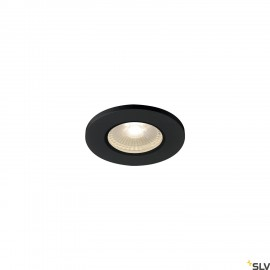 SLV 1001015 KAMUELA ECO LED Fire-rated Recessed ceiling luminaire, black, 3000K, 38°, dimmable, IP65
