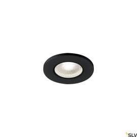 SLV 1001017 KAMUELA ECO LED Fire-rated Recessed ceiling luminaire, black, 4000K, 38°, dimmable, IP65
