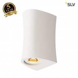 SLV 1001271 PLASTRA, wall light, LED, 3000K, up/down, steel /white plaster, max. 35W