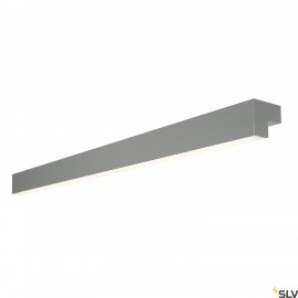 SLV L-LINE 120 LED, wall and ceiling light, IP44, 3000K, 3000lm, mouse grey