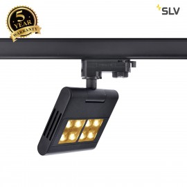 SLV LENITO TRACK, black, 3000K, incl. 3-circuit adapter 1001467