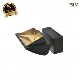 SLV 1001469 MERADO FLOOD WL, LED Indoor surface-mounted wall light, black, 3000K, 40°