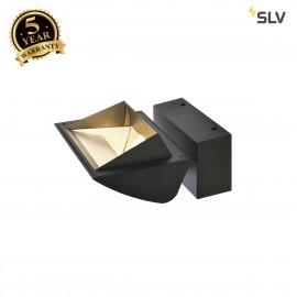 SLV 1001473 MERADO FLOOD WL, LED Indoor surface-mounted wall light, black, 4000K, 40°
