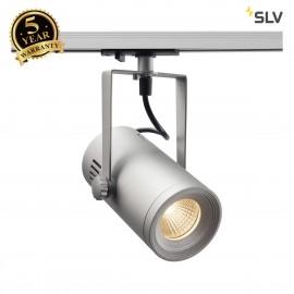 SLV EURO SPOT TRACK, silver, 3000K, 36°, incl. 1-circuit adapter 1001487