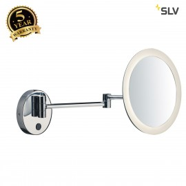 SLV 1001503 MAGANDA TL, LED Outdoor surface-mounted wall light, chrome, IP44, 3000K