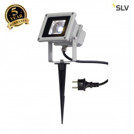 SLV LED OUTDOOR BEAM, silver-grey, 10W, 5700K, 100°, IP65 1001633
