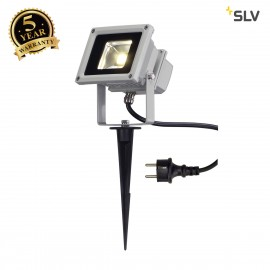 SLV LED OUTDOOR BEAM, silver-grey, 10W, 3500K, 100°, IP65 1001634