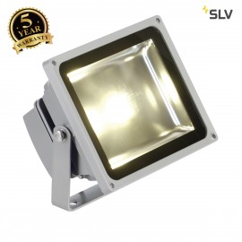 SLV 1001636 LED OUTDOOR BEAM, silver-grey, 30W, 3000K, 100°, IP65