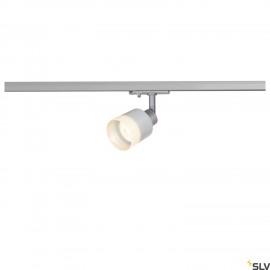 SLV PURI TRACK SPOT, QPAR51 glass, silver 50W, incl. 1-circuit adapter 1001870