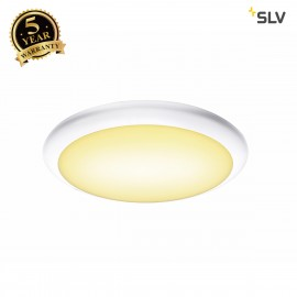 SLV 1001909 RUBA 10 CW, LED Outdoor surface-mounted wall and ceiling light, white, IP65, 3000/4000K