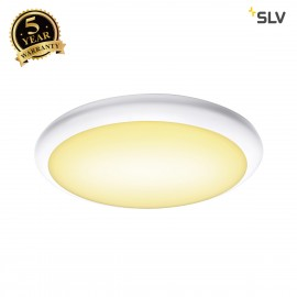 SLV 1001910 RUBA 16 CW, LED Outdoor surface-mounted wall and ceiling light, white, IP65, 3000/4000K