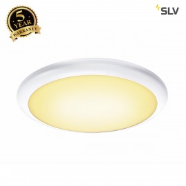 SLV 1001914 RUBA 20 CW sensor, LED Outdoor surface-mounted wall and ceiling light, white IP65 3000/4000K