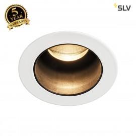 SLV 1001926 TRITON MINI DL, LED indoor recessed ceiling light, black/white, 3000K, 15°