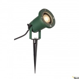 SLV 1001965 BIG NAUTILUS QPAR51, outdoor ground spike luminaire, green IP65 max. 11W