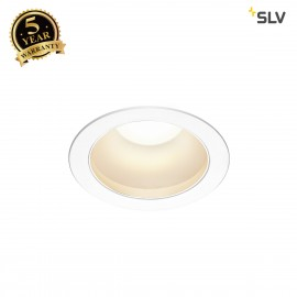 SLV 1001974 RILO DL, LED indoor recessed ceiling light, white/chrome, 3000/4000K, 14W