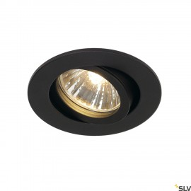 SLV 1001980 NEW TRIA 68 round, indoor recessed ceiling light, QPAR51, black, 50W