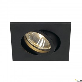 SLV 1001994 NEW TRIA 68 square, indoor recessed ceiling light, QPAR51, black, 50W