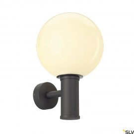 SLV 1002002 GLOO PURE WL, Outdoor surface-mounted wall light, E27, anthracite, IP44