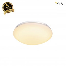 SLV 1002020 LIPSY 30 Dome, LED Outdoor surface-mounted wall and ceiling light, white, IP44, 3000/4000K