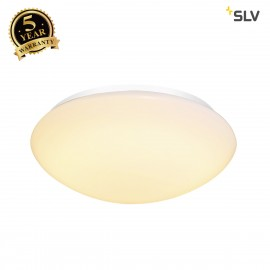 SLV 1002021 LIPSY 40 Dome, LED Outdoor surface-mounted wall and ceiling light, white, IP44, 3000/4000K