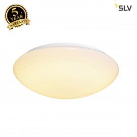 SLV 1002022 LIPSY 50 Dome, LED Outdoor surface-mounted wall and ceiling light, white, IP44, 3000/4000K