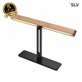 SLV 1002068 VINCELLI D TL, LED indoor table lamp, bamboo, 2700K
