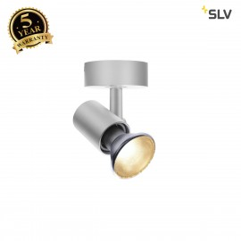 SLV 1002074 SPOT E27, CW, Indoor surface-mounted wall and ceiling light, silver-grey, max. 75W