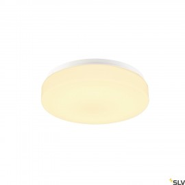 SLV 1002075 LIPSY 30 Drum CW, LED Outdoor surface-mounted wall and ceiling light, white, IP44 3000/4000K