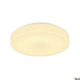 SLV 1002076 LIPSY 40 Drum CW, LED Outdoor surface-mounted wall and ceiling light, white, IP44 3000/4000K