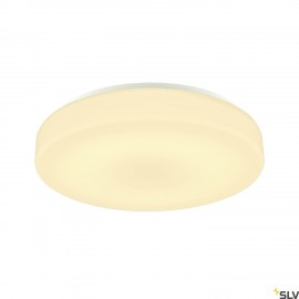 SLV 1002077 LIPSY 50 Drum CW, LED Outdoor surface-mounted wall and ceiling light, white, IP44 3000/4000K