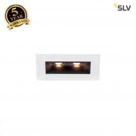 SLV 1002104 MILANDO DL, LED indoor recessed ceiling light, black/white, 3000K, 330lm
