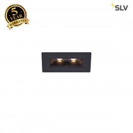 SLV 1002107 MILANDO DL, LED indoor recessed ceiling light, black, 3000K, 330lm