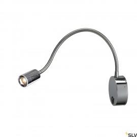 SLV 1002116 DIO FLEX PLATE, WL, LED indoor display fitting, chrome, 2700K