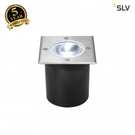 SLV 1002186 ROCCI Square, outdoor LED inground fitting, stainless steel 316, 4000K, IP67, 8.6W