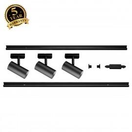 SLV NOBLO SPOT Black 1 Circuit Track Lighting Set 2700K 1002610